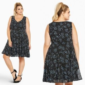 Torrid Heart Print Flounce Skirt Dress Sleeveless